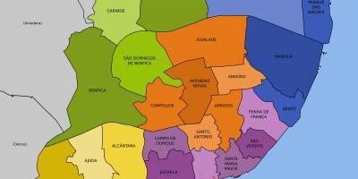 Karta Europa Portugal.Lissabon Map Kartor Lissabon Portugal